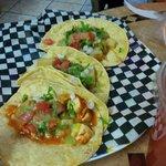 Vegetarian,Gluten Free and Vegan options available - potato/onion taco & tofu taco