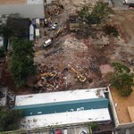 28th floor looking down at demolition of marketplace next door