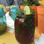 Blackberry-lemon mojito
