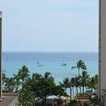 Blick aus einem unserer Fenster auf den Strand