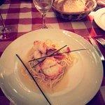 Pasta with schrimps