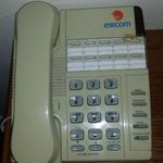 Phone from the 1980s, there were also phone books in the drawer