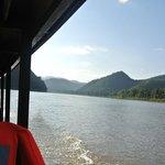 Emi's boat on Mekong