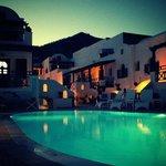 Pool at evening night