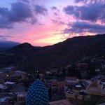 sunset at Villa Angela