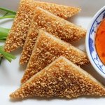 Sesame prawn toast, Express Lunch 2 courses £12.80, every day12pm-2.30pm