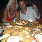 One of the seafood combination platers. Yes its really that big.