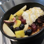 'Half and Half': Fruit Salad, Yogurt, Granola