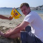 Nathan enjoying the beach..