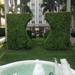 Front of hotel - cool grounds