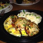 Sizzling chicken & Cheese entree