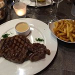 The star of the meal.  Perfectly seasoned, incredibly tender & flavorful steak (fries were aweso