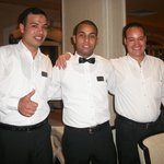 Emad, Mostafa and Saied - Gala night with our three favoured boys