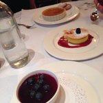 Desserts. Crime caramel, pana cotta and lemon mouse.