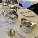 Beautiful silver for afternoon tea