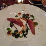 squab with fiddlehead fern and goose berry