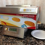 Hot pancakes at a continental breakfast?? Nice!!