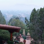 This is taken from my room balcony.  This misty haze may be from the fires between Sedona and Fl