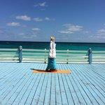 on the yoga deck