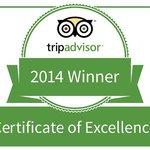 2014 Trip Advisor Certificate of Excellence Winner