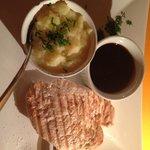 Tasteless Chicken steak and too sweet plum sauce
