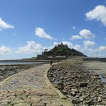 The causeway from Marazion to St Michaels Mount (wear flat shoes!)