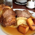 Delicious roast beef Sunday lunch