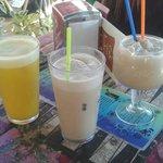 Cafe helado y batido