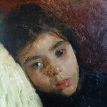 A. Mancini: The Sick Child, Detail