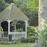 Have a glass of wine or early moring coffee in the garden gazebo.