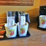 Coffee Station in room.  More coffee available for free in lobby.