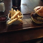 Boulsworth burger with skinny fries. Awesome!!