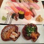 Sushi especial do Chef e Coquilles de entrada