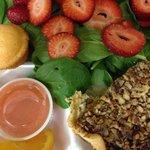 Chicken Pecan Quiche & Strawberry Spinach Salad