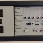 Easily accessible panel to hook up to TV, great for movies