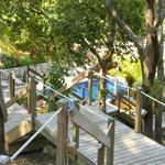 89 steps down to sea level and a nice pool for guests.