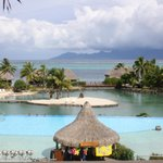 Main pool & view of Moorea