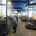 Museum interior - commercial steamship models