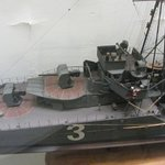 Detail of 1/75th scale model of destroyer Le Tigre