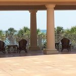 Patio off lobby with breathtaking views