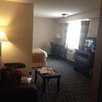 view of 1king suite from door