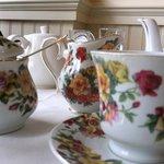 Beautiful china and tea service