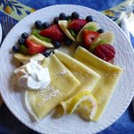 Lemon Crepes with Fresh Fruit