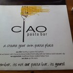 Ciao Pasta Bar - a must try!