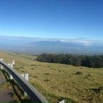 Down from volcano top!