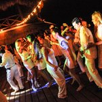 Wedding Party on the deck of Las Nubes de Holbox