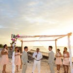 Wedding ceremony on the beach of Las Nubes de Holbox
