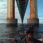 Underneath Mackinac City Bridge
