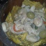 Mofongo relleno de carrucho