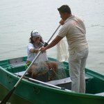 Traditional fishing-with a net